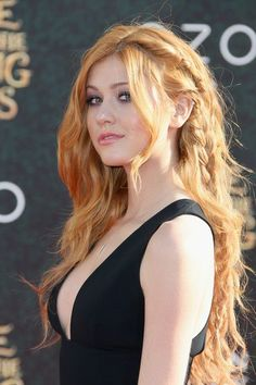 Katherine McNamara Long Partially Braided - Katherine McNamara's partially braided hairstyle at the 'Alice Through the Looking Glass' premiere looked like something straight out of a fairy tale!