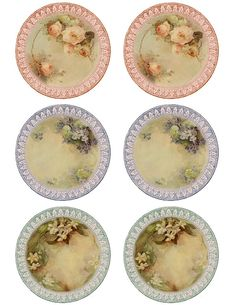 """Such fine china..."" Printable round tags or labels.  Use as a pretty label on the lid of your homemade preserves!"