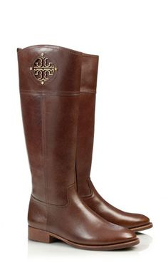 72118ee40003c4 NIB Tory Burch Kiernan Flat Tall Riding Leather Almond Boots Size 7