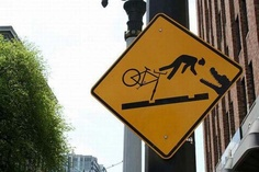 And this is why you ride a bike that has two wheels......