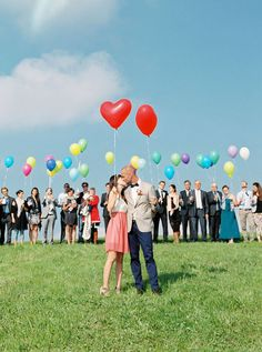 After we saw all of Conny + Stephan's wedding we were convinced of two things: short & semi-casual wedding dresses are a really adorable way to show off your style, and multi-colored balloons don't just have a place at a kid's birthday party. C + S also have a sweet story about getting engaged on …