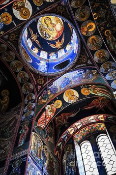 """Orthodox Church Interior by Elena Elisseeva you want to talk about """". A cloud of witness'. Sacred Architecture, Religious Architecture, Church Architecture, Christian Church, Christian Art, Religion, Kirchen Design, Templer, Church Interior"""
