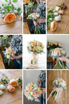 Wedding Bouquet Recipe ~ A Pretty Spring Posy in Peach