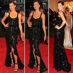 Gisele at the Met Gala, The dress is Givenchy- originally in gold (fall 2010)