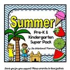 Summer 50-page printable unit pack includes multiple math, language, and literacy activities! Pre-K and Kindergarten morning work or centers!