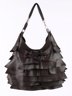 vogue bags replica - Yves saint laurent st tropez fish scale fringe ruffle black ...