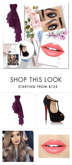 """""""for prom#10"""" by mia-pfefferkorn ❤ liked on Polyvore featuring Christian Louboutin, Fiebiger, Sephora Collection, Karlsson and yesss"""