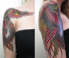 First tattoo - Phoenix by Ant Oliver at Westside Tattoo, Brisbane QLD : tattoos