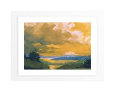 """Orange Lake"" - Art Print by Stephanie Goos Johnson in beautiful frame options and a variety of sizes."