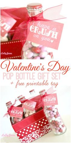 Valentine's Day pop bottle gift set plus Crush on you FREE tag!!