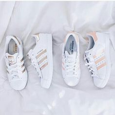 release date 0c6b7 00f03 Wheretoget - White Adidas Superstar sneakers with gold stripes Clothing,  Shoes   Jewelry   Women   Shoes   Fashion Sneakers   shoes