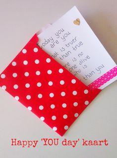Happy YOU day! Zelf een kaartje maken! DIY project van Astrid van de Vijver via DIY-zelfmaken.nl
