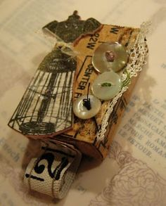 Sherry's Simple Blog: Sewing Themed Altered Matchbox