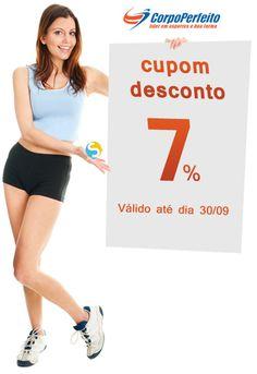 Que tal um cupom vale presente* de 7% para compra suplementos de aumento de massa muscular no Corpo Perfeito.