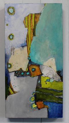 "Items similar to Original Modern Art Abstract Zen Painting cradled 12 x 24 Blues greens gray ""The Tipping Point"" by Jodi Ohl on Etsy Arte Digital Fantasy, Art Visage, Zen Painting, Modern Art Movements, Art Original, Art Moderne, Watercolor Artists, Abstract Photography, Simple Art"