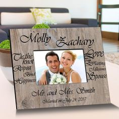 Personalized Tying The Knot Wooden Picture Frames – Personalized Gifts