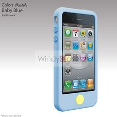 smarter beans soft silicone iPhone 4 / 4S case - sky blue, $14.90
