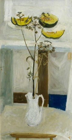 Weeds and a Melon, 1956 by Ian McKenzie Smith, OBE (Scottish, born 1935)