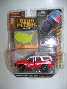 Jada Hero Patrol 1:64 FDNY 2010 Chevy Tahoe Red/White by Jada Toys. $16.99 Toy Trucks, Fire Trucks, Lego Bathroom, 2015 Dodge Charger, Die Games, Jada Toys, Custom Hot Wheels, Wrangler Shirts, Matchbox Cars