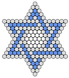 Blue And White Jewish Star Perler Bead Pattern / Bead Sprite - Sprite - Ideas of Sprite Hama Beads Patterns, Seed Bead Patterns, Beaded Jewelry Patterns, Beading Patterns, Perler Bead Designs, Jewish Crafts, Motifs Perler, Seed Beads, Crafts