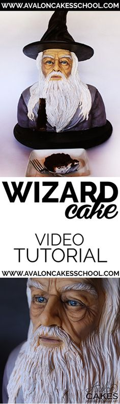 Learn how to make this awesome wizard cake in this step by step tutorial! Click through for tons of cake decorating inspiration and tutorials! Cake Decorating Techniques, Cake Decorating Tutorials, Cake Pop Tutorial, Fantasy Cake, Dragon Cakes, Sculpted Cakes, Character Cakes, Crazy Cakes, White Wedding Cakes
