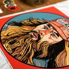 'Forrest Gump' artwork by Luke Dixon Forrest Gump, Limited Edition Prints, Artwork Prints, Illustration, Illustrations, Character Illustration