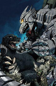Godzilla vs Mecha Godzilla by Zach Howard, colors by Nelson Daniel