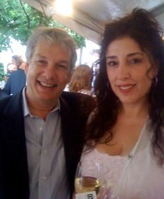 #Chefwear founder Rochelle Huppin and Marc Summers in 2009 for Alex's Lemonade Stand