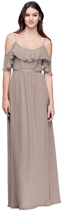 270c2da07cd06 Cold-Shoulder Crinkle Chiffon Bridesmaid Dress Style F19508