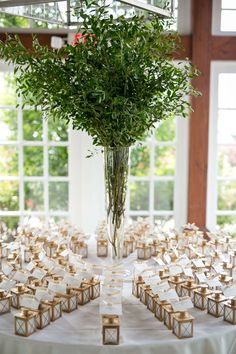 Romantic Ways to Use Candle On Your Wedding Unique Greenery Wedding Placecards Escort Cards Favors Mini Lanterns