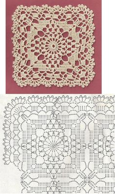 pretty lacy frilly crochet motif! - I will use it as a row of lace in the skirt I am making right now!