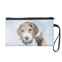 Beagle Painting - Cute Original Dog Art Wristlet  baby beagle, golden labrador puppy, basset hound puppy #beagleworld #love #like, back to school, aesthetic wallpaper, y2k fashion Hound Puppies, Basset Hound Puppy, Beagle Puppies, Baby Beagle, Beagle Funny, Beagle Gifts, Dog Gifts, Golden Labrador Puppies, Dog Art