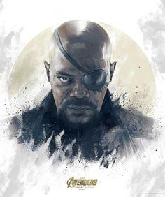 Avengers: Age of Ultron Nick Fury Portrait - Vlad Rodriguez