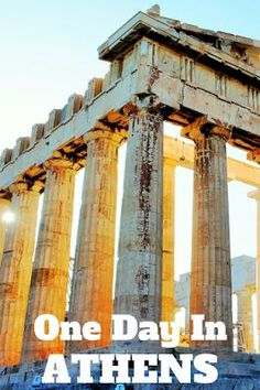 Travel the World: A guide to things to do in Athens Greece when you only have one day. #Athens #Greece #travel