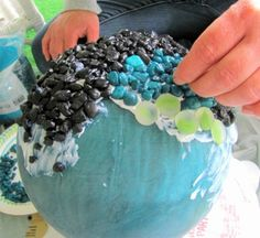What to Do With Old Bowling Balls!  This is great!!  Repurposing a bowling ball...