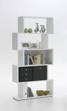 kubi shelving unit in white with 5 compartments 23922 furniture in fashion stock a huge range of shelving units from wall mounted units to - Raumteilerregale