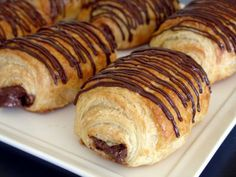 These are one of my favorite things!!! Chocolate croissants - must try out! #recipe #chocolate #croissant