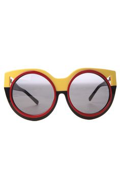 $275... but man oh man The Coco and Breezy Sunglasses Thema in Yellow and Black - Karmaloop.com