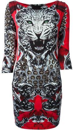 Philipp Plein leopard jacquard dress on shopstyle.com