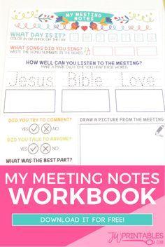 My Meeting Notes Workbook For Kids | JW Printables