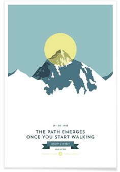 Mount Everest Yellow as Premium Poster by Joe Mania | JUNIQE