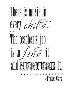 """Inspirational Quote Music Print """"When Words Fail Music"""