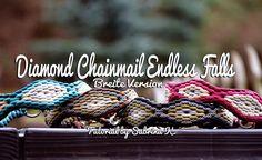 Diamond Chainmail Endless Falls - Breite Version | Swiss Paracord