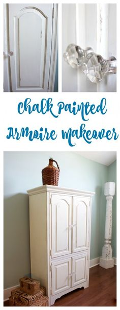 White Painted Armoire Makeover – 12 Idea's for Kid's Room