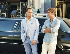 Ed Westwick and Chase Crawford