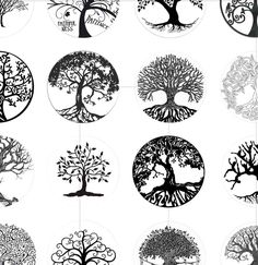 Check out our craft supplies & tools selection for the very best in unique or custom, handmade pieces from our shops. Tree Of Life Images, Tree Of Life Art, Tree Art, Circle Tattoo Design, Circle Tattoos, Logo Camp, Atrapasueños Tattoo, Animal Drawings, Art Drawings