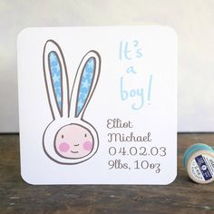 personalised new baby boy card by moobaacluck | notonthehighstreet.com