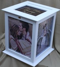 Amazon.com - Wedding Card Box - Locking, Rotating The Perfect Card Box In White - Wedding Albums