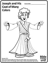 Coloring pages joseph and his coat ~ Sunday School - Joseph on Pinterest | Bible Stories, Color ...