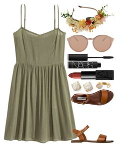"""🍁"" by kk-purpleprincess ❤ liked on Polyvore featuring Kate Spade, Steve Madden, Linda Farrow, NARS Cosmetics and Kelly Wearstler"